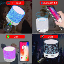 Load image into Gallery viewer, GETIHU Wireless Portable Bluetooth Speaker Mini LED Music Audio TF USB FM Stereo Sound Speaker For Phone Xiaomi Computer column