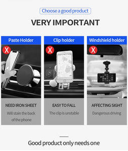 Universal Car Phone Holder For Phone In Car Air Vent Mount Stand No Magnetic Mobile Holder For iPhone Smartphone Gravity Bracket