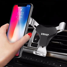 Load image into Gallery viewer, Universal Car Phone Holder For Phone In Car Air Vent Mount Stand No Magnetic Mobile Holder For iPhone Smartphone Gravity Bracket