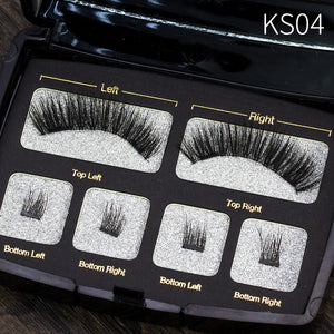 Magnetic Eyeashes Handmade Natural False Eyelash with custom packaging Makeup Tool Box Acrylic Magnet Lashes SCT06