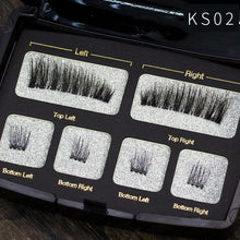 Load image into Gallery viewer, Magnetic Eyeashes Handmade Natural False Eyelash with custom packaging Makeup Tool Box Acrylic Magnet Lashes SCT06
