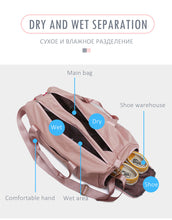 Load image into Gallery viewer, Outdoor Waterproof  Nylon Sports Gym Bags Men Women Training Fitness Travel Handbag Yoga Mat Sport Bag with shoes Compartment