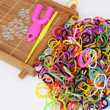 Load image into Gallery viewer, Diy toys rubber bands bracelet for kids or hair rubber loom bands refill rubber band make woven bracelet DIY Christmas 2019 Gift