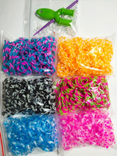 Load image into Gallery viewer, 1800pcs Rubber Loom Bands DIY Toys For Children Set Kid Lacing Bracelet Silicone Rubber Bands Elastic Rainbow Weave Girl Gifts
