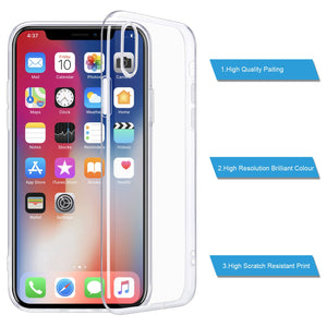 "For iPhone X Case, WEFOR Slim Clear Soft TPU Cover Support Wireless Charging for Apple 5.8"" iPhone X /iPhone 10 (2017 Release)"