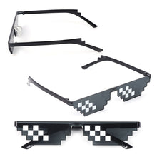 Load image into Gallery viewer, Mosaic Sunglasses Trick Toy Thug Life Glasses Deal With It Glasses Pixel Women Men Black Mosaic Sunglasses Funny toy