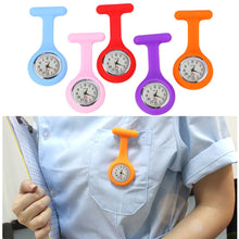 Load image into Gallery viewer, Hot Sell Fashion Pocket Watches Silicone Nurse Watch Brooch Tunic Fob Watch With Free Battery Doctor Medical reloj de bolsillo