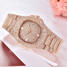 Load image into Gallery viewer, ICE-Out Bling Diamond Watch For Men Women Hip Hop iced out watch Men Quartz Watches Stainless Steel Band Business Wristwatch Man