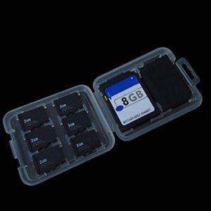 Double-Layers Hard Micro  HC TF MS Memory Card Storage Box Protector Holder Hard Case Simple style case