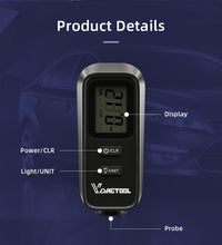 Load image into Gallery viewer, VDIAGTOOL VC-100 Car Thickness Gauge Meter Digital Paint Films For Car Paint Tester LCD Backlight Thickness Coating Meter