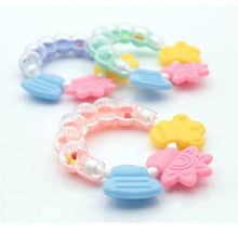 Load image into Gallery viewer, Cartoon Baby Teether Educational Mobiles Toys Teeth Biting Baby Rattle Toy Bed Bell Silicone Handbell Jingle Birthday Gifts