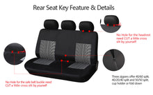 Load image into Gallery viewer, AUTOYOUTH 3 Colour Track Detail Style Car Seat Covers Set Polyester Fabric Universal Fits Most Cars Covers Car Seat Protector
