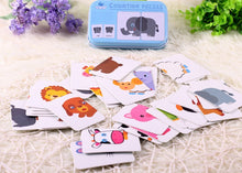 Load image into Gallery viewer, New Arrival Baby Toys Infant Early Head Start Training Puzzle Cognitive Card Vehicl/Fruit/Animal/Life Set Pair Puzzle Baby Gift