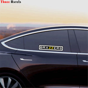 Three Ratels TZ-1384#10*46.3cm 4.9*22.5cm car sticker brazzers colorful funny car stickers auto decals removable
