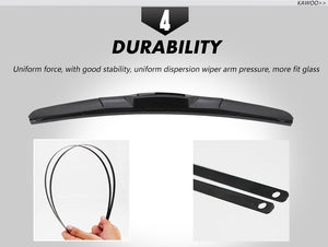 "Car Wiper Blade Universal U Hook Type 14""16""17""18""19""20""21""22""24""26"" Windscreen Windshield Rubber Hybrid Auto Wipers Accessories"