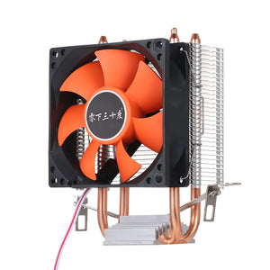 Hydraulic CPU Cooler Heatpipe Fans Quiet Heatsink Radiator Two Fine Copper Heat Pipes for Intel Core AMD Sempron Platform