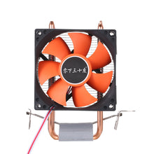 Load image into Gallery viewer, Hydraulic CPU Cooler Heatpipe Fans Quiet Heatsink Radiator Two Fine Copper Heat Pipes for Intel Core AMD Sempron Platform