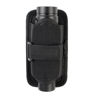 Flashlight Holster Belt Carry Case Flashlight Pouch Holster for Duty belt Holder with Molle System 360 Degree Rotatable Clip