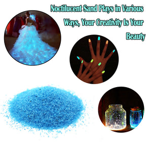 10g Luminous Sand Glow In The Dark Party DIY Bright Paint Star Wishing Bottle Fluorescent Particles Toys ping