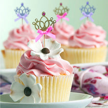 Load image into Gallery viewer, 10pcs/lot 1st Birthday Party Decoration Toys Hat Children Party Toy Multi color Cupcake Toppers Princess Crown Hat Toys For Kids