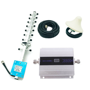 4G 1800MHz LTE DCS Mobile Signal Booster GSM Repeater LTE Amplifier + Yagi Mobile Cellphone Signal Booster Repeater Amplifier
