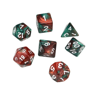 7pcs/Set Digital dice Game dices set Polyhedral D4-D20 Multi Sided Acrylic Dice gift #3o30 @Y