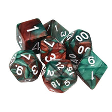 Load image into Gallery viewer, 7pcs/Set Digital dice Game dices set Polyhedral D4-D20 Multi Sided Acrylic Dice gift #3o30 @Y