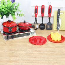 Load image into Gallery viewer, 13 Pieces Funny Mini Kitchen Cookware Pot Pan Set for Kids Pretend Cook Play Toy Simulation Kitchen Utensils Toy New Year Gift