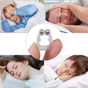 Sleeping Anti Schnarchen Nase Clip Silicone Magnetic Anti Snoring Nose Clips Breathing Stop Snore Apnea Antisnoring Clip Device