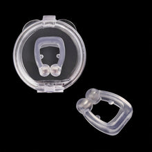 Load image into Gallery viewer, Sleeping Anti Schnarchen Nase Clip Silicone Magnetic Anti Snoring Nose Clips Breathing Stop Snore Apnea Antisnoring Clip Device