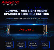 Load image into Gallery viewer, New arrival Asgard M.2 SSD PCIe 250gb 500gb 2TB SSD hard Drive ssd m.2 NVMe pcie M.2 2280 SSD Internal Hard Disk for PC 2TB