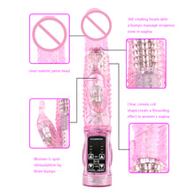 Load image into Gallery viewer, Rabbit Vibrator,Realistic Dildo Penis Vibrator Clitoris Stimulat Massager Transparent Rotating Beads Female Sex Toys For Women