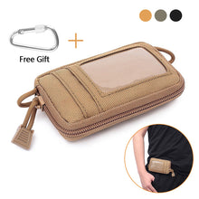 Load image into Gallery viewer, Tactical Mini Wallet Card Money Key Pack Waist Bag Nylon with Free Carabiner Camping Hiking Outdoor Waterproof Belt Small Pouch