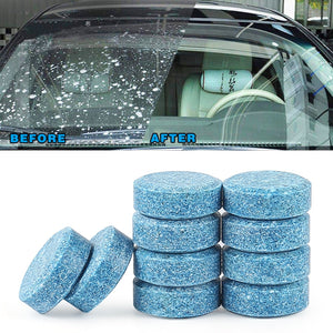 10pc(1pc=4L Water)Car Wiper Cleaner Solid Effervescent Spray Car Cleaner Auto Window Windshield Glass Cleaner Auto Car Accessory