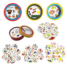 Load image into Gallery viewer, spot symbol cards game настольные игры English version education toys with metal box for family activities party enjoy it game