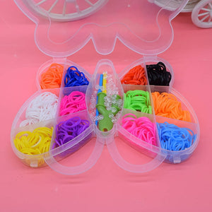 600pcs Children Diy toys rubber bands bracelet loom girl hair band colorful gum make woven bracelets kids gift toy