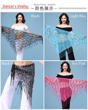 Load image into Gallery viewer, New style Belly dance costumes sequins tassel indian belly dance hip scarf for women belly dancing belt 11kinds of colors