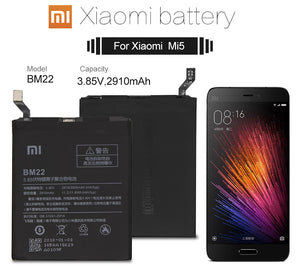 Xiao Mi Original Phone Battery BM22 for Xiaomi Mi 5 Mi5 M5 3000mAh High Quality Replacement Battery Retail Package Free Tools