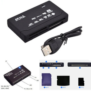 All In One Card Reader Universal M2 XD CF Micro SD Card Reader USB 2.0 High Speed Memory Card