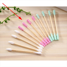 Load image into Gallery viewer, 100pcs/ Pack Double Head Cotton Swab Women Makeup Cotton Buds Tip For Medical Wood Sticks Nose Ears Cleaning Health Care Tools