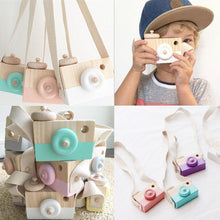 Load image into Gallery viewer, 2019 Cute Nordic Hanging Wooden Camera Toys Kids Toys Gift 9.5X6X3cm Room Decor Furnishing Articles Christmas Gift  Wooden Toy