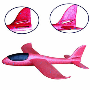 Glider Planes Hand Throw Flying DIY Led Flashing Aircraft Airplane Model Foam Aeroplane Party Game Toys For Children Kids Gift