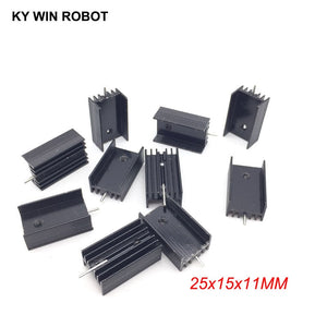 10pcs  Aluminium TO-220 Heatsink TO 220 Heat Sink Transistor Radiator TO220 Cooler Cooling 25*15*11MM With 1 Pin