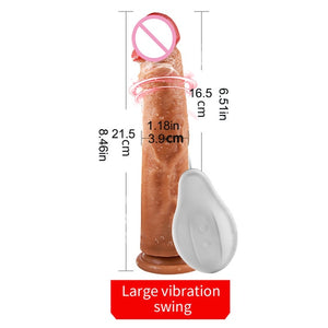 OMYSKY Automatic Telescopic Heating Penis Vibrator Masturbation Super Realistic Dildo Vibrator G Point Adult Sex Toys for women