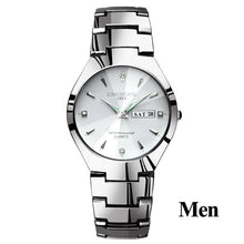 Load image into Gallery viewer, Lovers Watches Luxury Quartz Wrist Watch for Men and Women Hodinky Dual Calender Week Steel Saat Reloj Mujer Hombre Couple Watch
