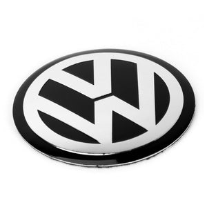 4pcs 56mm 60mm 65mm 75mm 90mm Black Car Wheel Center Hub Cap Badge Logo Emblem Decal Wheel Sticker Styling For VW