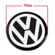 Load image into Gallery viewer, 4pcs 56mm 60mm 65mm 75mm 90mm Black Car Wheel Center Hub Cap Badge Logo Emblem Decal Wheel Sticker Styling For VW