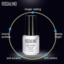 Load image into Gallery viewer, ROSALIND Top Base Coat Gel Polish UV Shiny Sealer Soak off Reinforce 7ml Long Lasting Nail Art Manicure Gel Lak Varnish Primer