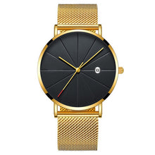 Load image into Gallery viewer, Simple Men's Watch 2019 Stainless Steel Mesh Band Watches Classic Quartz Date Wristwatch Casual Luxury Masculino Relogios