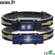 Load image into Gallery viewer, BORUiT XM-L2 LED Mini Headlamp High Power 1000lm Headlamp 18650 Rechargeable Head Torch Camping Hunting Waterproof Flashlight